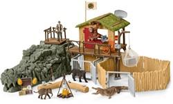 Schleich Croco Jungle Onderzoeksbasiskamp 42350