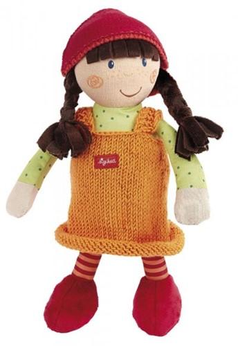 Sigikid  knuffelpop Sigidolly met gebreide jurk - 28 cm