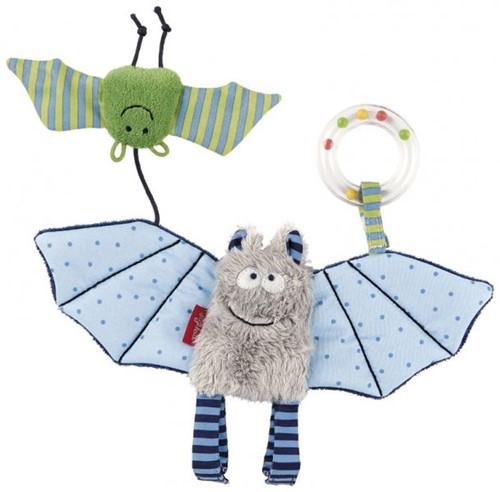 Sigikid blauwe vleermuis hanger, baby editie