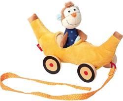 Sigikid  trekfiguur Bananenkar met aap