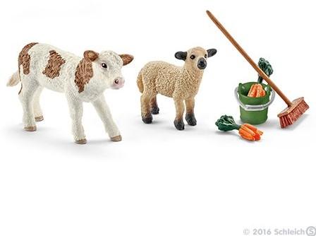 Schleich Farm Life - Poetsset Met Kalf En Schaap 41422