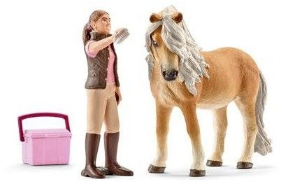 Schleich Paarden - Stalmeisje Met Ijslandse Merrie 41431