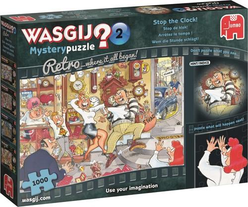 Jumbo puzzel Wasgij Mystery 2 Retro Stop de Klok! - 1000 stukjes