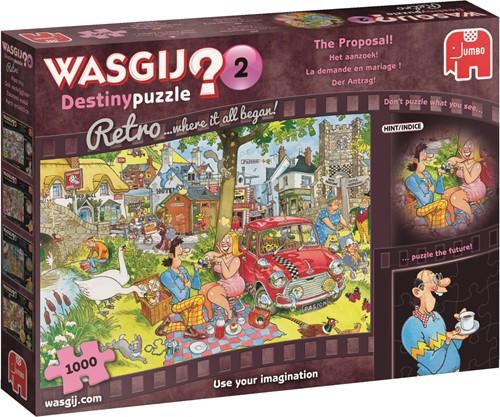 Jumbo puzzel Wasgij Destiny 2 Retro Het Aanzoek! - 1000 stukjes