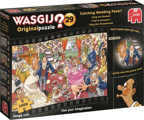 Jumbo puzzel Wasgij Original 29 INT - Vang Het Boeket! - 1000 stukjes