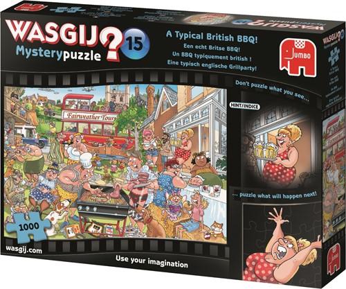 Jumbo puzzel Wasgij Mystery 15 INT - Een echt Britse BBQ! - 1000 stukjes