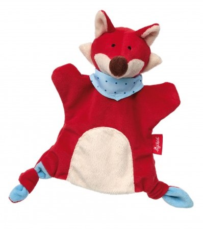 sigikid Handpop-knuffeldoekje vos, Soft & Play