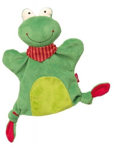 sigikid Handpop-knuffeldoekje kikker, Soft & Play