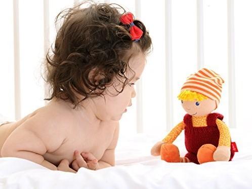 Sigikid  knuffelpop Sigidolly rood-oranje - 28 cm-3