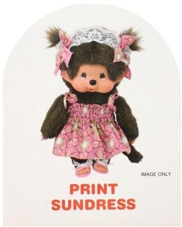 Monchhichi  knuffelpop kleren Boutique A - Zomerjurk roze-2