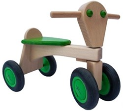 Van Dijk Toys  houten loopfiets limegreen