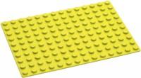 Hubelino  knikkerbaan accessoires Gele grondplaat 140 noppen