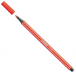 Stabilo  teken en verfspullen pen 68 lichtrood