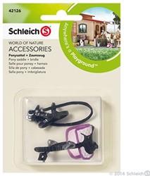 Schleich Paarden - Pony Zadel En Teugel 42126