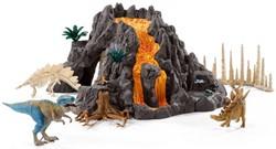 Schleich Dinosaurussen - Reuze Vulkaan Met T-Rex 42305