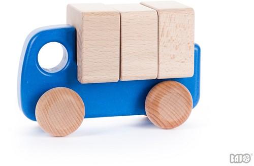 Bajo Kleine Vrachtwagen met blokken Blauw