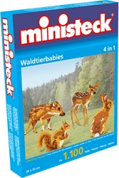 Ministeck knutselspullen Jonge bosdieren 4-in-1 1100 stukjes