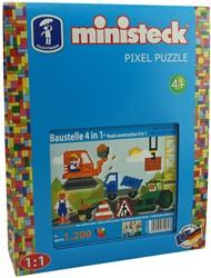 Ministeck Bouwplaats 4-in-1 - 1200 stukjes