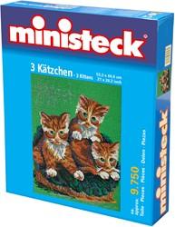 Ministeck knutselspullen 3 kittens 9750