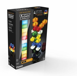 Light Stax  constructie speelgoed mix 2x2 24 stuks