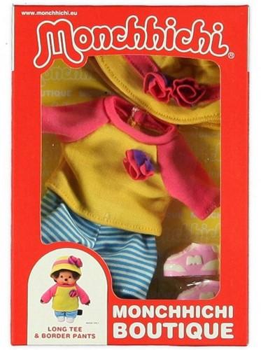 Monchhichi  knuffelpop kleren Boutique A Geel/roze shirt met-2