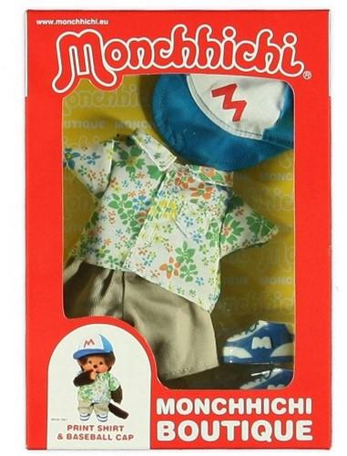 Monchhichi  knuffelpop kleren Boutique A Print Shirt & Baseball Cap-2