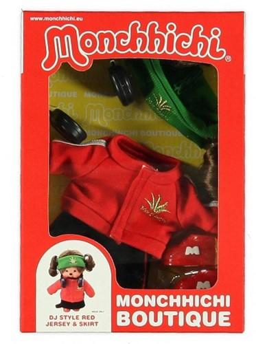 Monchhichi  knuffelpop kleren Boutique B DJ Style Rood-2
