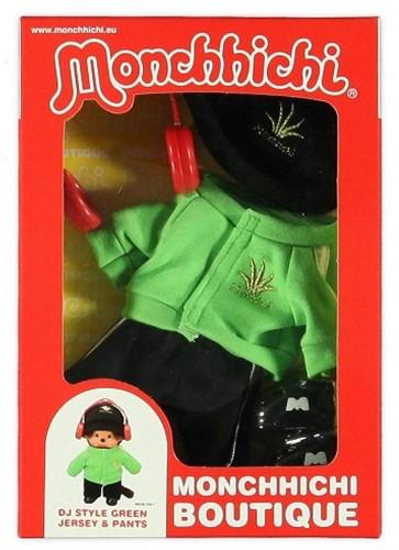 Monchhichi  knuffelpop kleren Boutique B DJ Style Groen-2