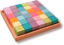 Grimm's houten blokken 36 pastel