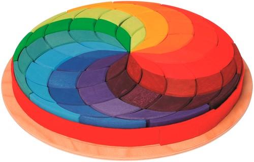 Grimm's 72-delige Grote Gekleurde Houten Spiraal 43270