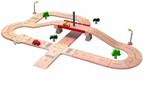 Plan Toys  Plan City houten speelstad weg Wegen set deluxe