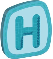 Haba  decoratie houten letter H