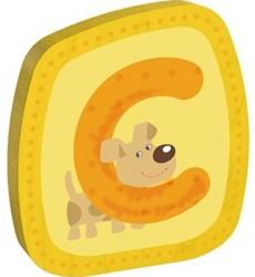 Haba  decoratie houten letter C