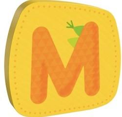 Haba  decoratie houten letter M