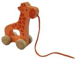 Hape houten trekfiguur Giraffe