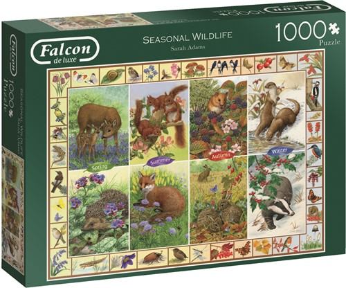 Jumbo puzzel Falcon Seasonal Wildlife - 1000 stukjes