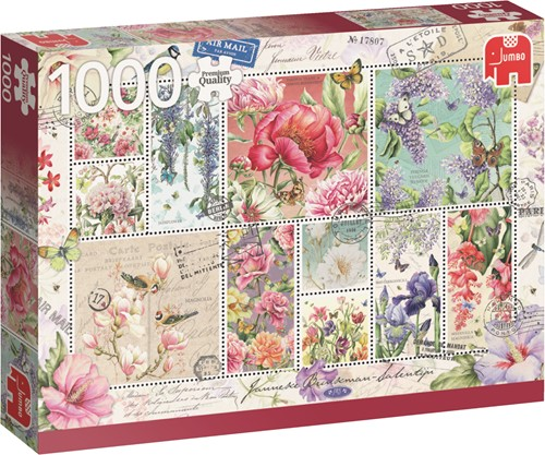 Jumbo puzzel Janneke Brinkman -  Flower Stamps - 1000 stukjes