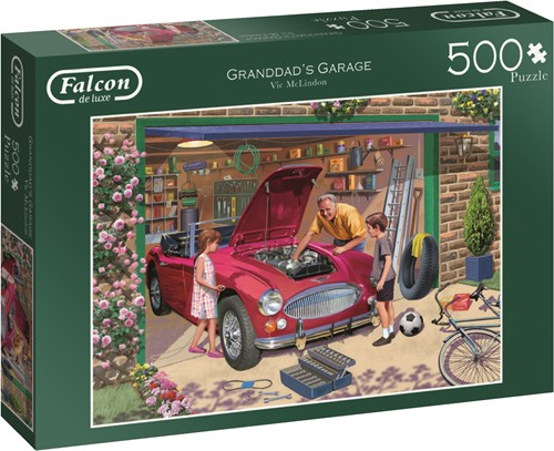 Jumbo puzzel Falcon Grandad's Garage - 500 stukjes