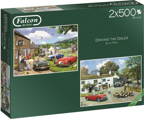 Jumbo puzzel Falcon Driving in the Dales - 2x500 stukjes