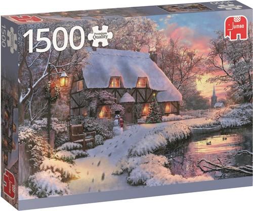 Jumbo puzzel Winter Cottage - 1500 stukjes