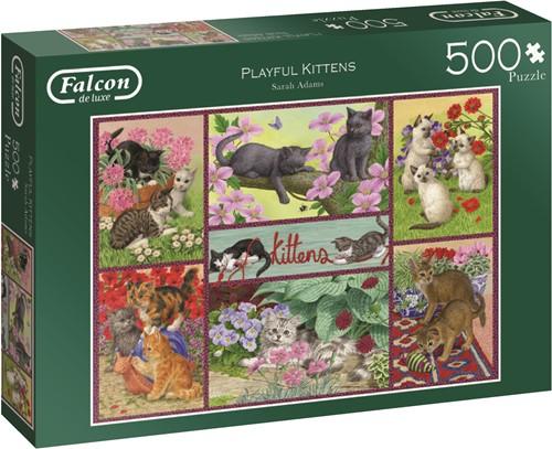 Jumbo puzzel Falcon Playful Kittens - 500 stukjes