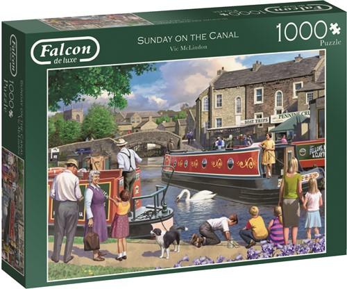Jumbo puzzel Falcon Sunday on the Canal - 1000 stukjes
