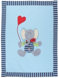 Sigikid  pluche knuffel babydeken Olifant 48806 - 100 x 75 cm