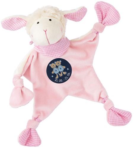 sigikid Sterrebeeld knuffellaapje schaap roze, Tweelingen