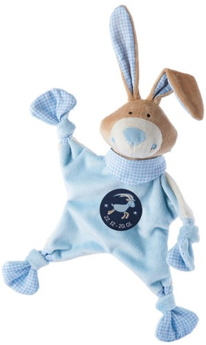sigikid Sterrebeeld knuffellaapje haas blauw, Steenbok