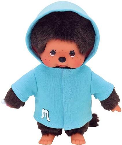 Monchhichi knuffelpop kleren Fashion Blauwe Parka met Capuchon