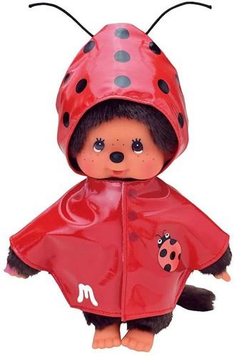 Monchhichi knuffelpop kleren Fashion Rode Regenjas Met Lieveheersbeestje