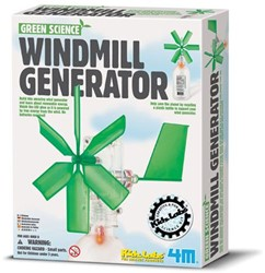 4M KidzLabs GREEN SCIENCE: WINDMOLEN GENERATOR L13cm