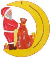 Beleduc  houten knutselspullen Kersthanger kerstman-2