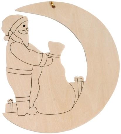 Beleduc  houten knutselspullen Kersthanger kerstman-1